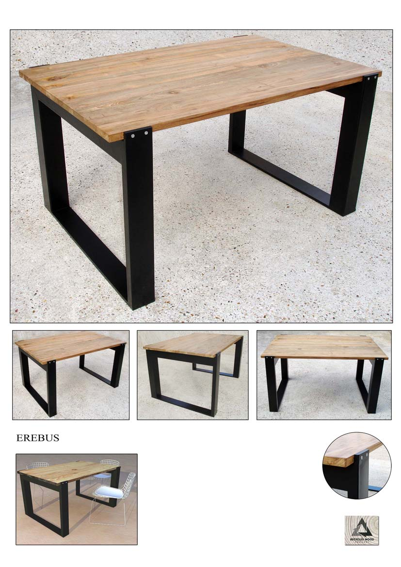 Nowmad sarl bureau ou table de repas erebus 90x140cm for Table de repas design
